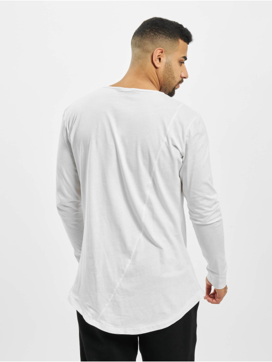Urban Classics Tričká dlhý rukáv Long Shaped Fashion biela