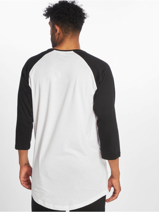 Urban Classics Tričká dlhý rukáv Long Raglan 3/4 Sleeve Pocket biela