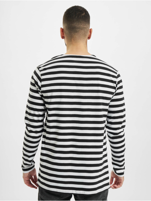 Urban Classics Tričká dlhý rukáv Regular Stripe LS biela