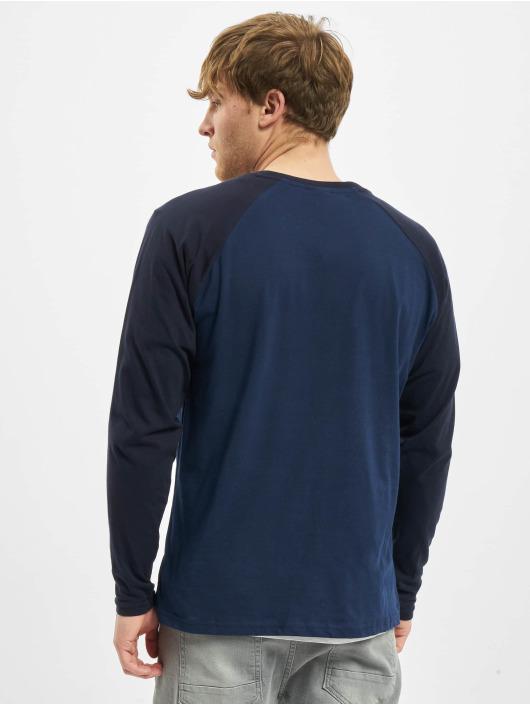 Urban Classics Tričká dlhý rukáv Raglan Contrast LS modrá