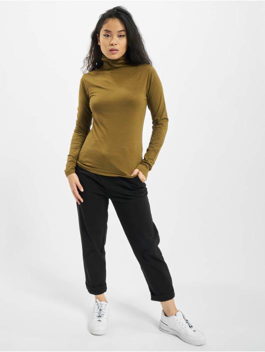 Urban Classics Tričká dlhý rukáv Ladies Basic Turtleneck LS olivová
