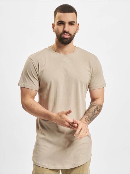 Urban Classics Tričká Shaped Long hnedá