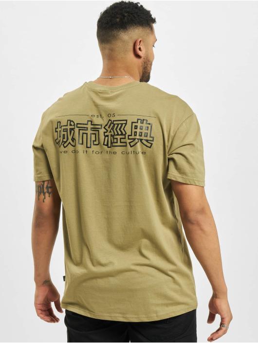Urban Classics Tričká Chinese Symbol kaki