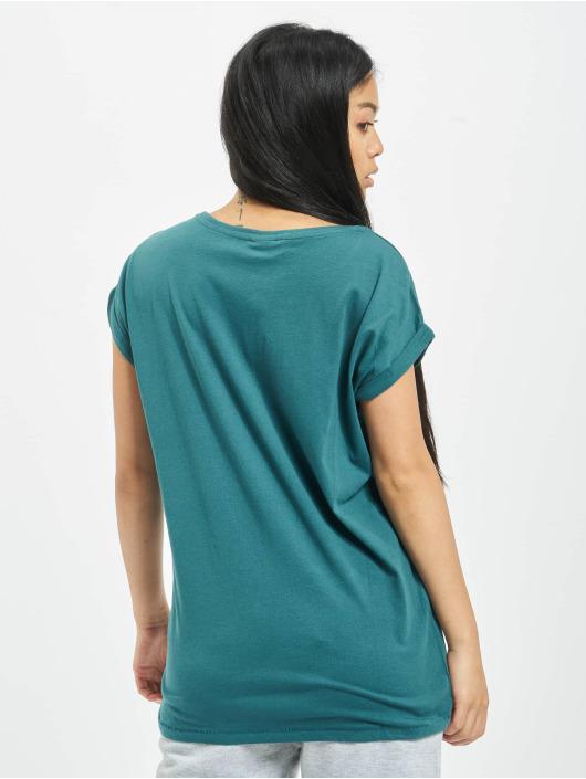 Urban Classics Tričká Extended Shoulder modrá