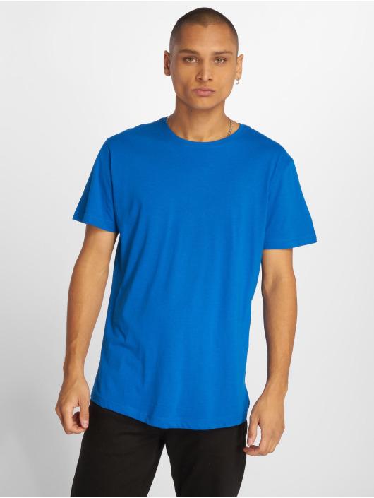 Urban Classics Tričká Shaped Long modrá