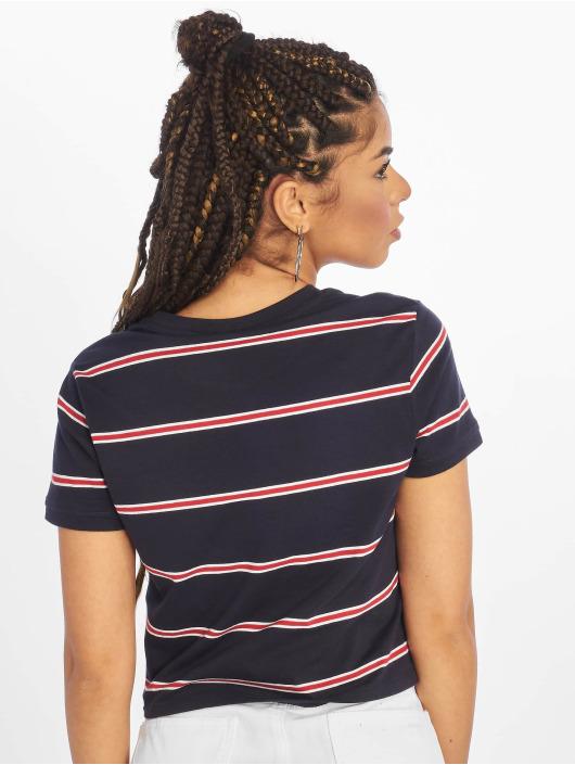 Urban Classics Tričká Yarn Dyed Skate Stripe modrá