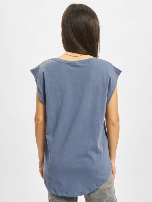 Urban Classics Tričká Basic Shaped modrá