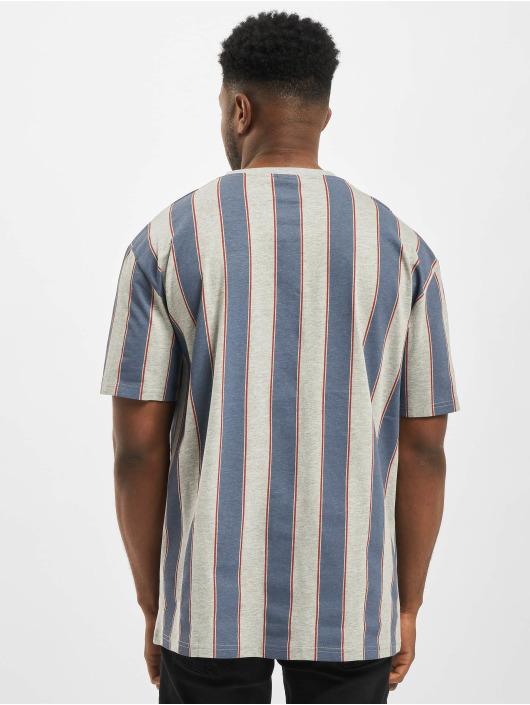 Urban Classics Tričká Printed Oversized Bold Stripe modrá