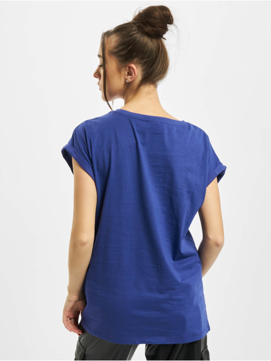 Urban Classics Tričká Ladies Extended Shoulder modrá