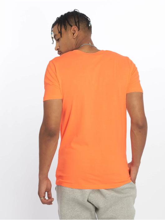 Urban Classics Tričká Neon V-Neck oranžová