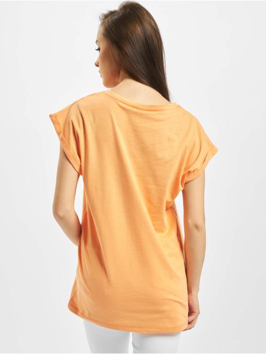 Urban Classics Tričká Extended Shoulder oranžová
