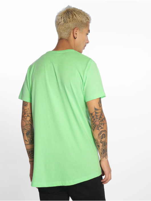Urban Classics Tričká Shaped Long zelená