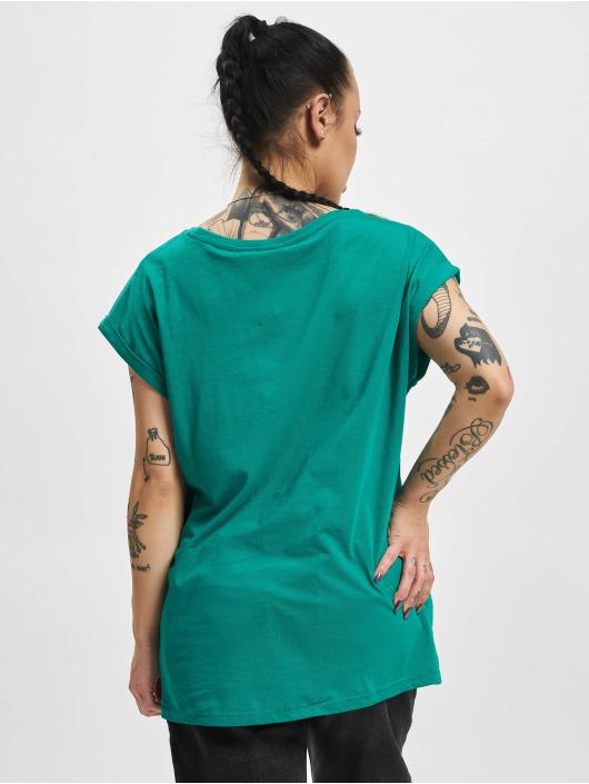 Urban Classics Tričká Extended Shoulder zelená
