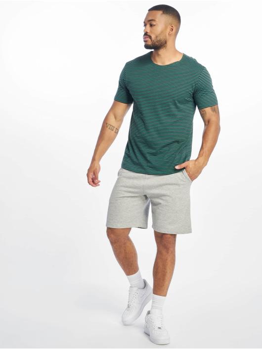 Urban Classics Tričká Yarn Dyed Baby Stripe zelená