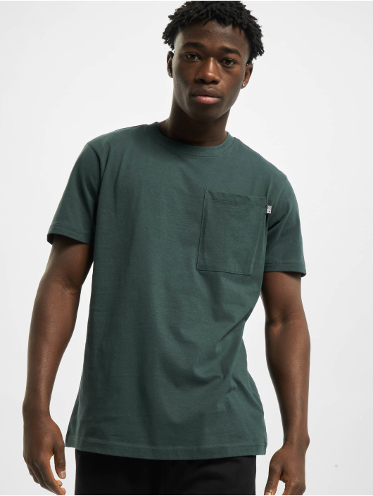 Urban Classics Tričká Basic Pocket zelená
