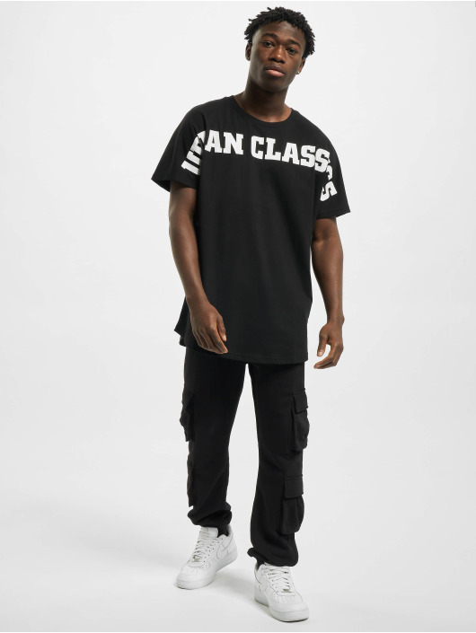 Urban Classics Trika Long Shaped Big Logo Tee čern