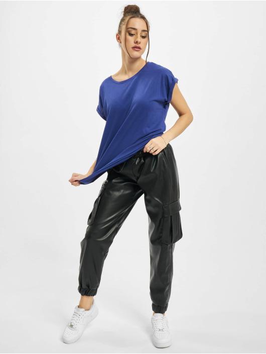 Urban Classics Trika Ladies Extended Shoulder modrý