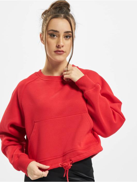 Urban Classics Tröja Ladies Oversized Short Raglan röd
