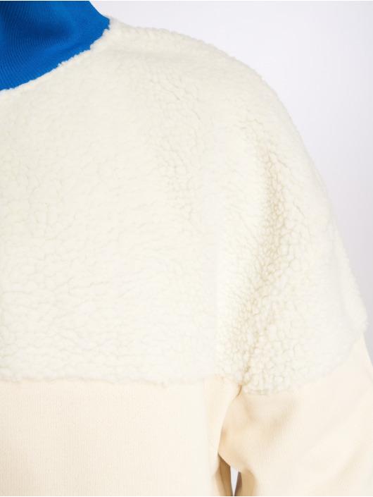 Urban Classics trui Oversize Sherpa Troyer beige