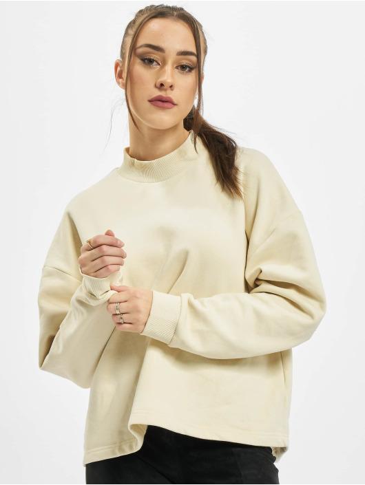 Urban Classics trui Ladies Oversized High Neck Crew beige