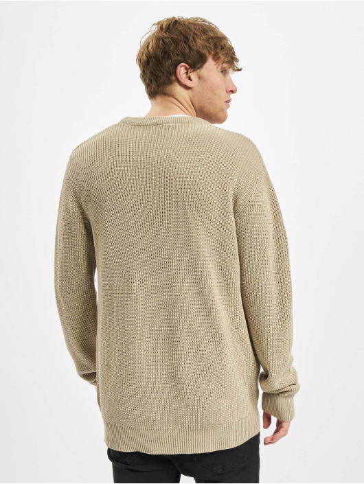 Urban Classics trui Cardigan Stitch beige