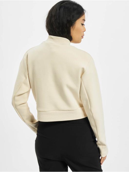 Urban Classics trui Ladies Interlock Short Turtleneck Crew beige