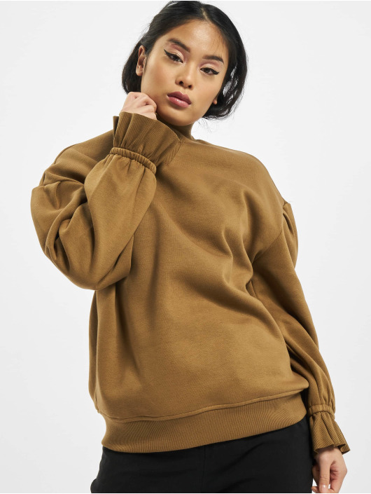 Urban Classics trui Ladies Turtleneck bruin