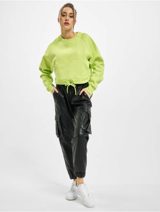 Urban Classics trui Ladies Oversized Short Raglan Crew geel