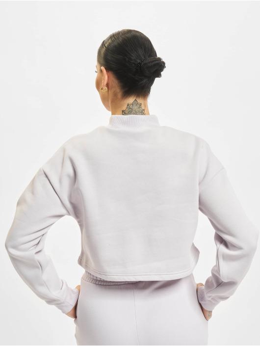 Urban Classics trui Ladies Cropped Oversized High Neck Crew paars