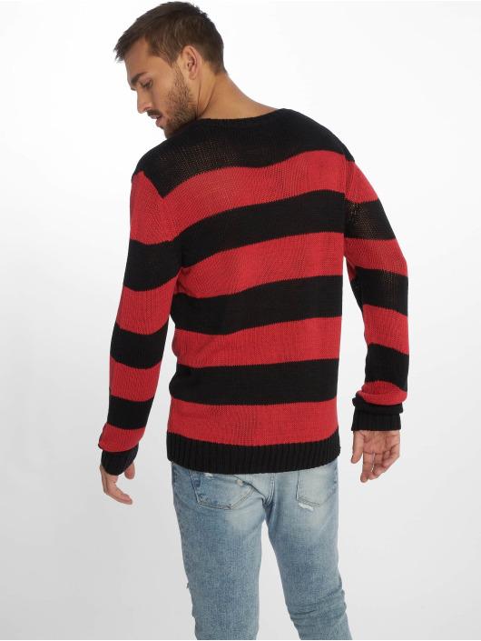 Urban Classics trui Striped zwart