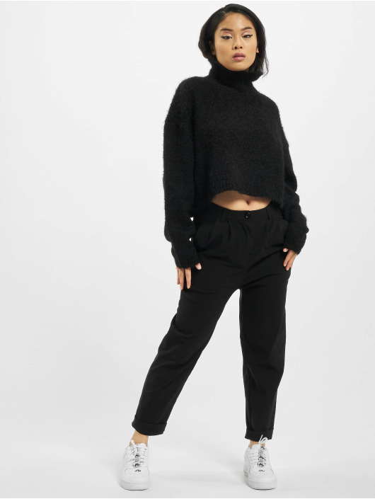 Urban Classics trui Oversized Turtleneck Feather zwart