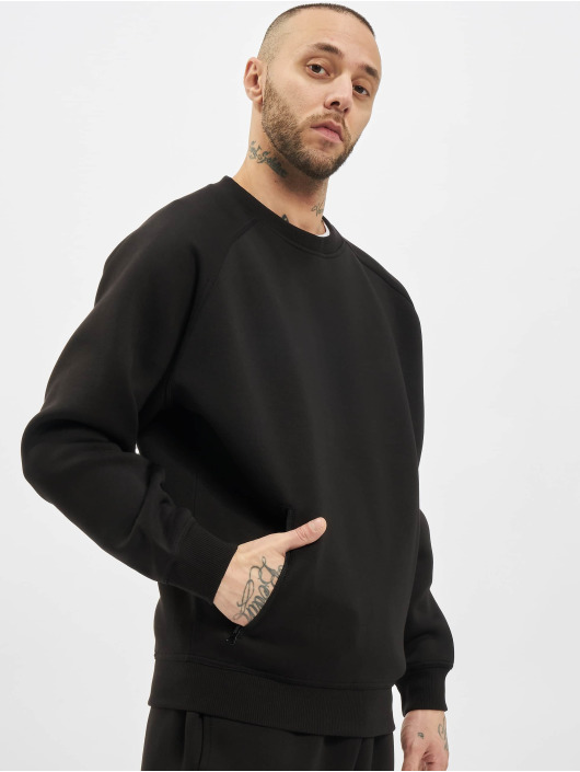 Urban Classics trui Raglan Zip Pocket Crew zwart