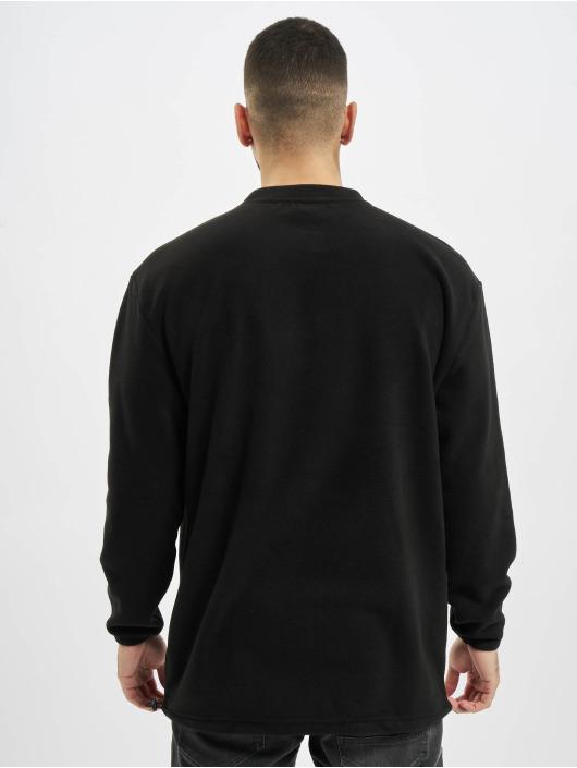Urban Classics trui Polar Fleece Pocket Crew zwart