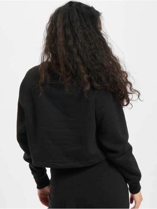 Urban Classics trui Ladies Oversized Short Raglan Crew zwart