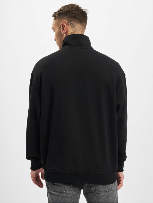 Urban Classics trui Organic Basic Troyer zwart