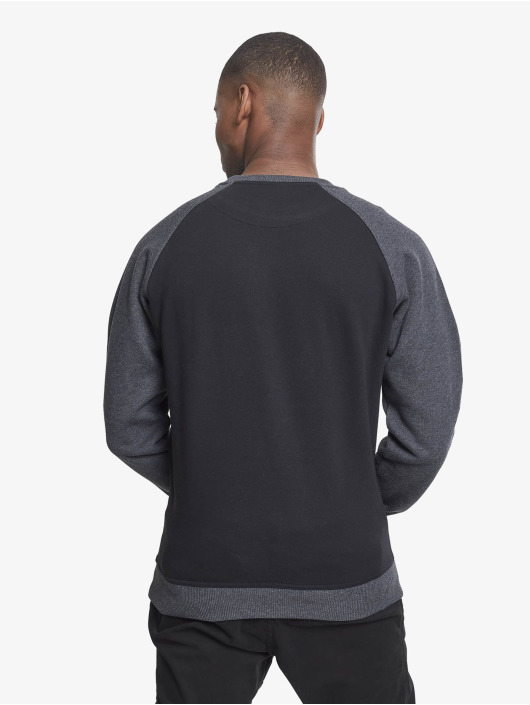Urban Classics trui 2-Tone Raglan Crewneck zwart