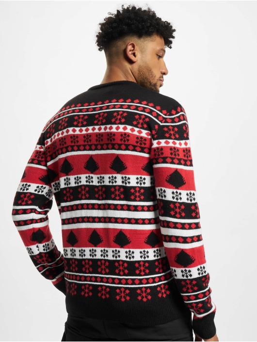 Urban Classics trui Snowflake Christmas Tree zwart