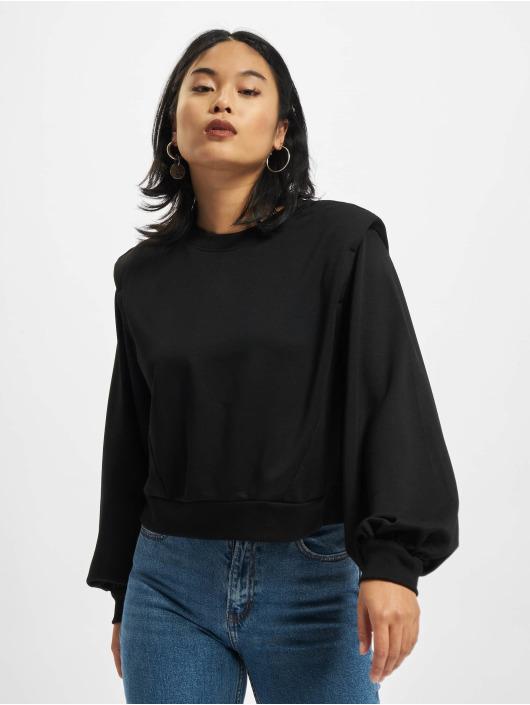 Urban Classics trui Ladies Padded Shoulder Modal Terry zwart