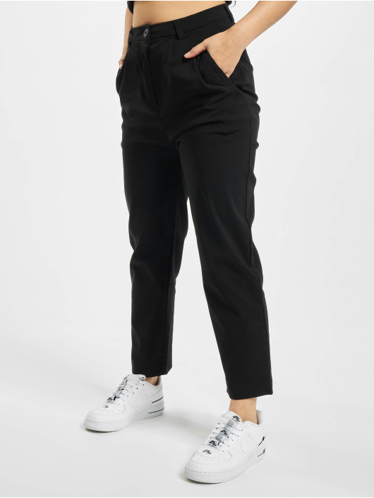 Urban Classics Tygbyxor Ladies Cropped svart
