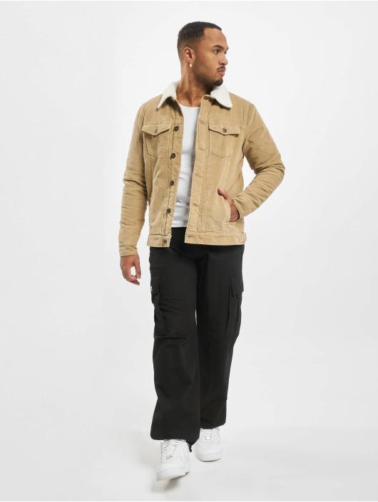 Urban Classics Übergangsjacke Sherpa Corduroy beige