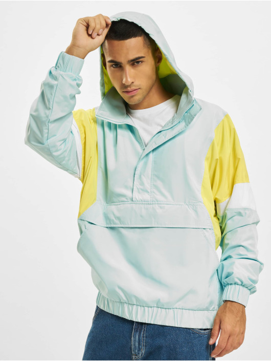 Urban Classics Übergangsjacke Light 3-Tone Pull Over blau
