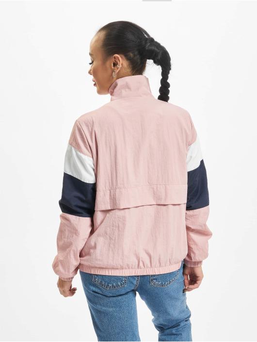 Urban Classics Übergangsjacke 3-Tone Crinkle rosa