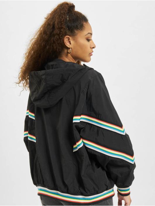Urban Classics Übergangsjacke Multicolor Rib Batwing schwarz
