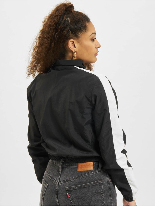 Urban Classics Übergangsjacke Short Striped Crinkle schwarz