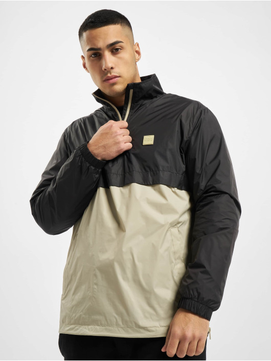 Urban Classics Übergangsjacke Stand Up Collar Pull Over schwarz
