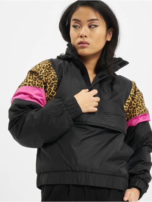 Urban Classics Übergangsjacke Ladies AOP Mixed Pull Over schwarz