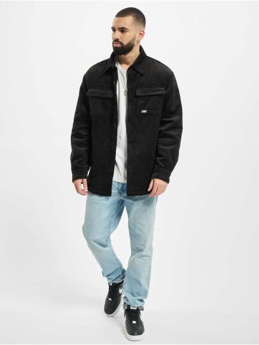 Urban Classics Übergangsjacke Corduroy Shirt schwarz