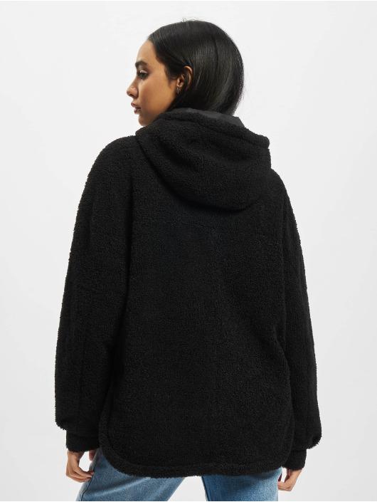 Urban Classics Übergangsjacke Ladies Short Sherpa schwarz