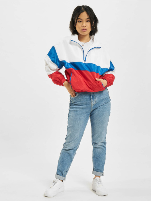 Urban Classics Übergangsjacke 3-Tone Stand Up Collar Pull Over weiß