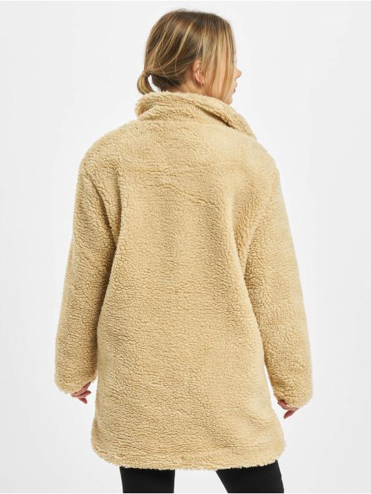 Urban Classics Ulkotakit Ladies Oversized Sherpa beige